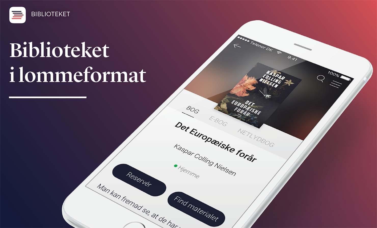 Biblioteket i lommeformat: hent vores nye app i App Store eller Google Play