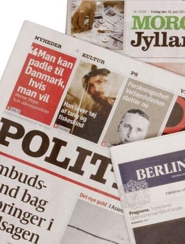 Find artikler fra en stort antal danske aviser og tidsskrifter.