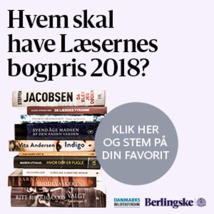 Læsernes bogpris 2018 - stem senest d. 7. april