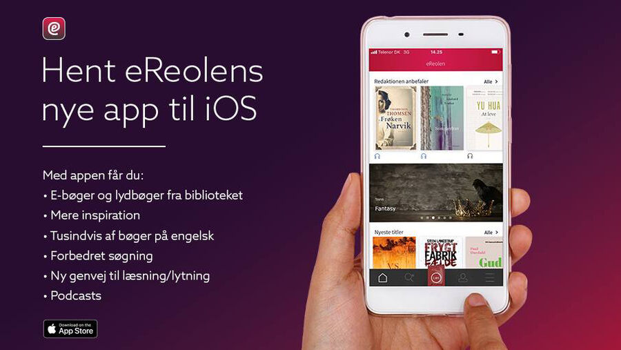 eReolen: Spritny app parat i app-store