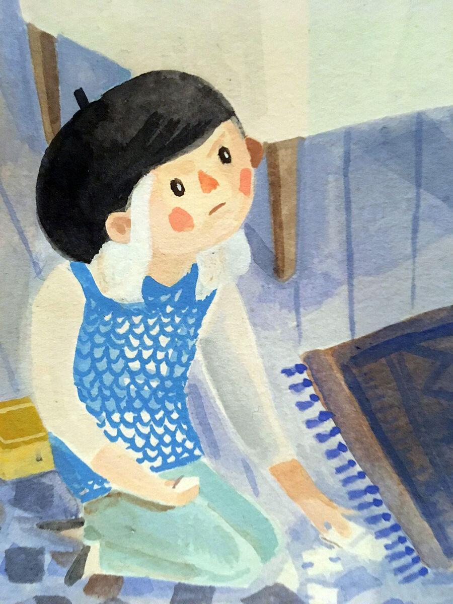 Demens set i børnehøjde - ny smuk billedbog af Anna Margrethe Kjærgaard