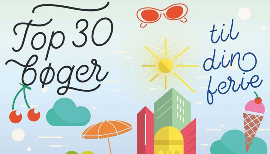 Top 30 bøger til din ferie